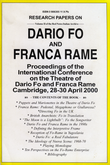 Dario Fo and Franca Rame Conference
